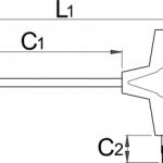 מפתח T אלן משושה Unior דגם 193HX