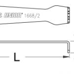 מפתח לברגי גלגלי שיניים Unior דגם 1668/2