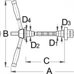 לוחץ קערות סט היגוי Unior דגם 1680/4
