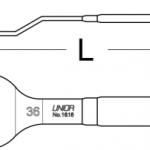 מפתח קוני 36 עם הטיה Unior דגם 1618/2dp