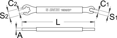 מפתח שפיצים פתוח 6.4 שטוח למאוויק Unior דגם 1635/2P