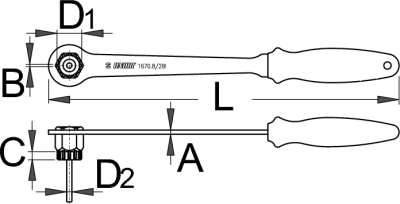 מפתח פריילוף לשימנו עם ידית ופין Unior דגם 1670.8/2bi
