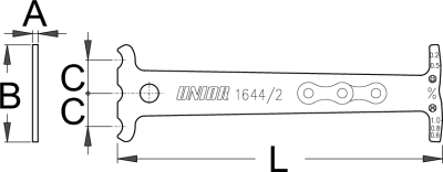 מד שחיקת שרשרת Unior דגם 1644/2