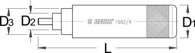 דופק שושנות למזלג Unior דגם 1682/4
