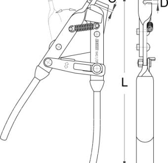 פלייר למתיחת כבל הילוכים/מעצור Unior דגם 1642.1/2p