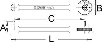 מד שחיקת שרשרת מקצועי Unior דגם 1643/4