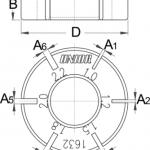 מפתח יישור שפיצים שטוחים Unior דגם 1632