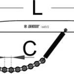 שוט שרשרת Unior דגם 1660/2