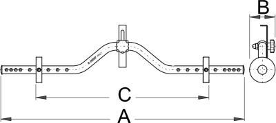 מד מרכוז גלגל מקצועי Unior דגם 1690/1
