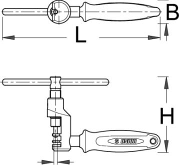 מפתח שרשרת מקצועי Unior דגם 1647/2ABI