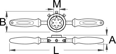 """מחרוקת לצוואר מזלג """"1-1/8 עם ידית Unior דגם 1696"""