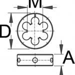 """מחרוקת לצוואר מזלג """"1-1/8 ללא ידית Unior דגם 1696.1"""