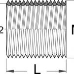 הברגות m16x1 (פנימי m14x1/25) לזרוע פדל ימין Unior דגם 1695.3