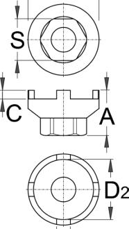 מפתח פריילוף ל-bmx עם 4 שיניים Unior דגם 1670.6/4