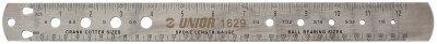 סרגל מידות שפיצים, מיסבים וקוטר קראנק Unior דגם 1629