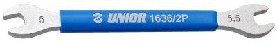 מפתח שפיצים פתוח 5/5.5 שטוח Unior דגם 1636/2P