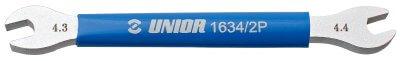 מפתח שפיצים פתוח 4.3/4.4 שטוח לשימנו Unior דגם 1634/2P