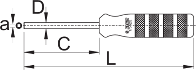 """מפתח שפיצים פנימי עם ראש מרובע Unior דגם 1751/2Q ל-3.2 מ""""מ"""