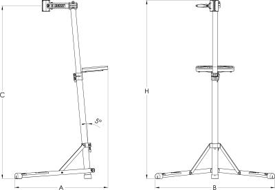 מתקן הרכבה לאופניים Unior דגם 1693bs עם פלטה