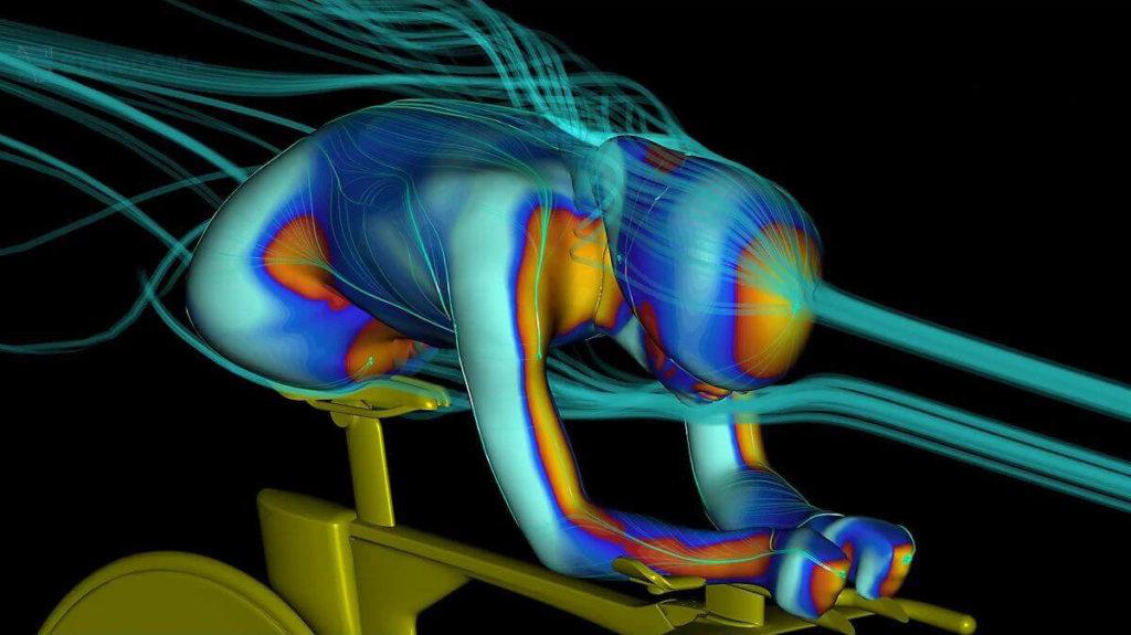 הדמיה של רוכב על Speed Concept במנהרת רוח