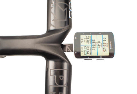 התקן K-edge למחשב Garmin Splayd Race חיבור ישיר לכידון אינטגרלי.