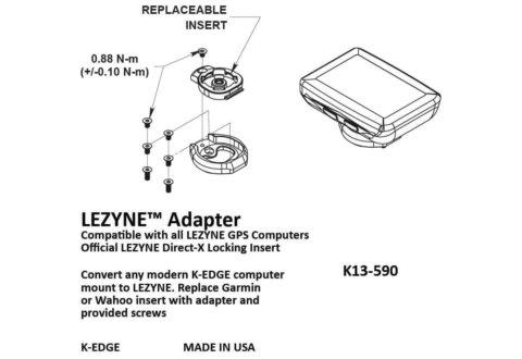 מתאם K-edge למחשבי Lezyne