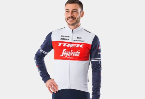 חולצת רכיבה לחורף Santini Trek-Segafredo Men's Replica Thermal LS Jersey