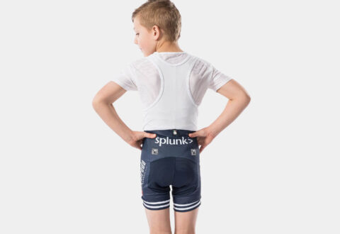 מכנסי ביב רכיבה לילדים Santini Trek-Segafredo Kids' Team Replica Bib