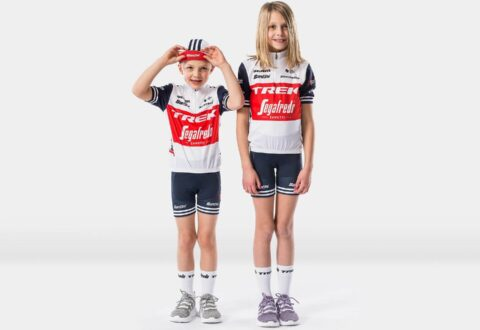 חולצת רכיבה לילדים Santini Trek-Segafredo Kids' Team Replica Jersey