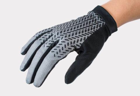 כפפות רכיבה ארוכות לנשים Bontrager Evoke FF V21 Grey