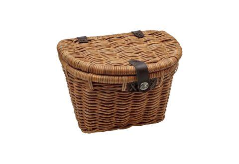 סל קדמי ראטאן עם מכסה אלקטרה Electra Woven Rattan Basket with Lid