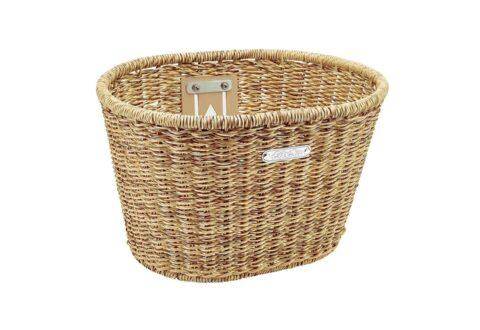 Electra Woven Plastic Basket Natural